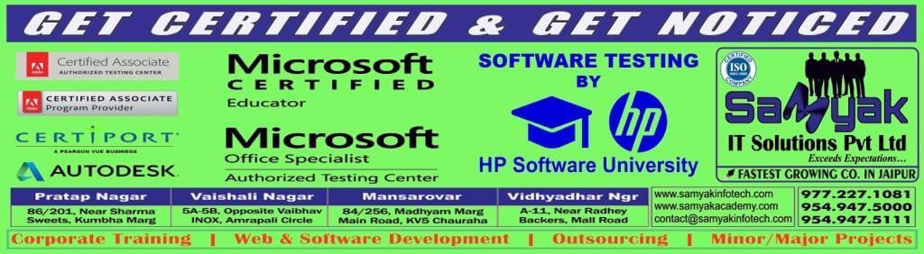 Certification Exams in Jaipur